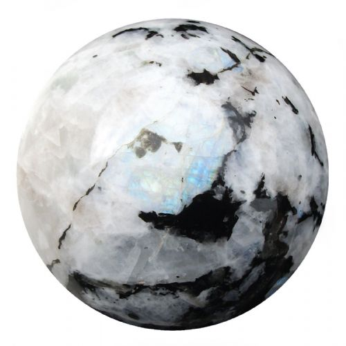 Rainbow Moonstone Fortune Telling Gemstone Crystal Ball  73mm 550g (RM4)
